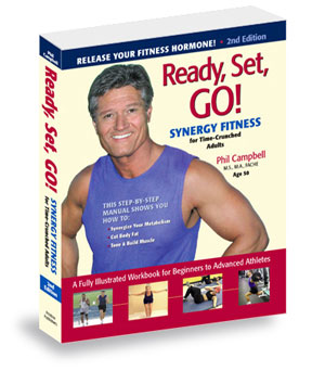 Click here for ordering info for this health and fitness book; Ready Set Go Synergy Fitness. The book that covers hot new topics concerning fitness, Sprint 8, E-lifts, X-lifts, xlifts, Sprint cardio, workout plans, fitness plans, exercise programs and shows you how to improve fitness with Sprint Cardio, stretching, and strength training